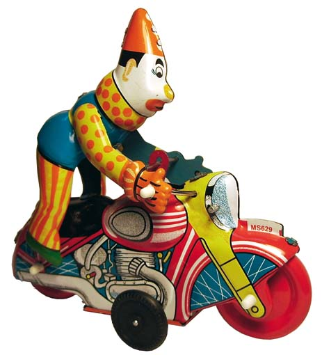 CLOWN IN MOTOCYCLE