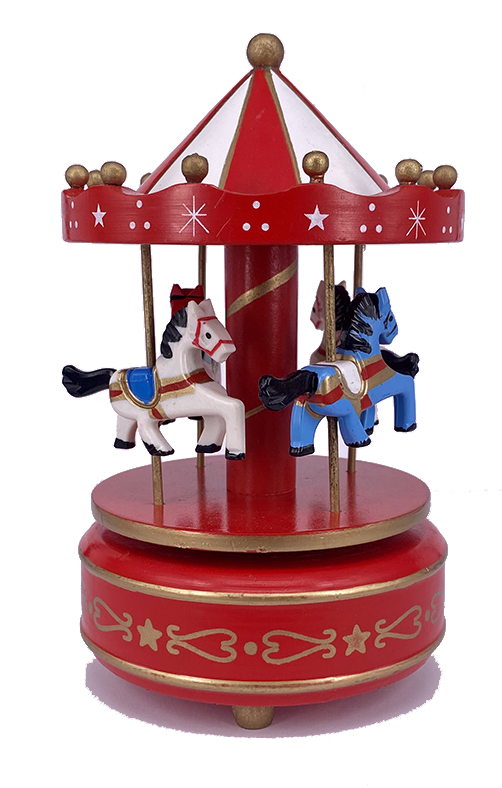 MUSICAL CAROUSEL RED WHITE