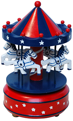 SMALL RED AND BLUE CARROUSEL